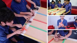 3D Printed Car Racing with Year 5 at Beacon Hill S
