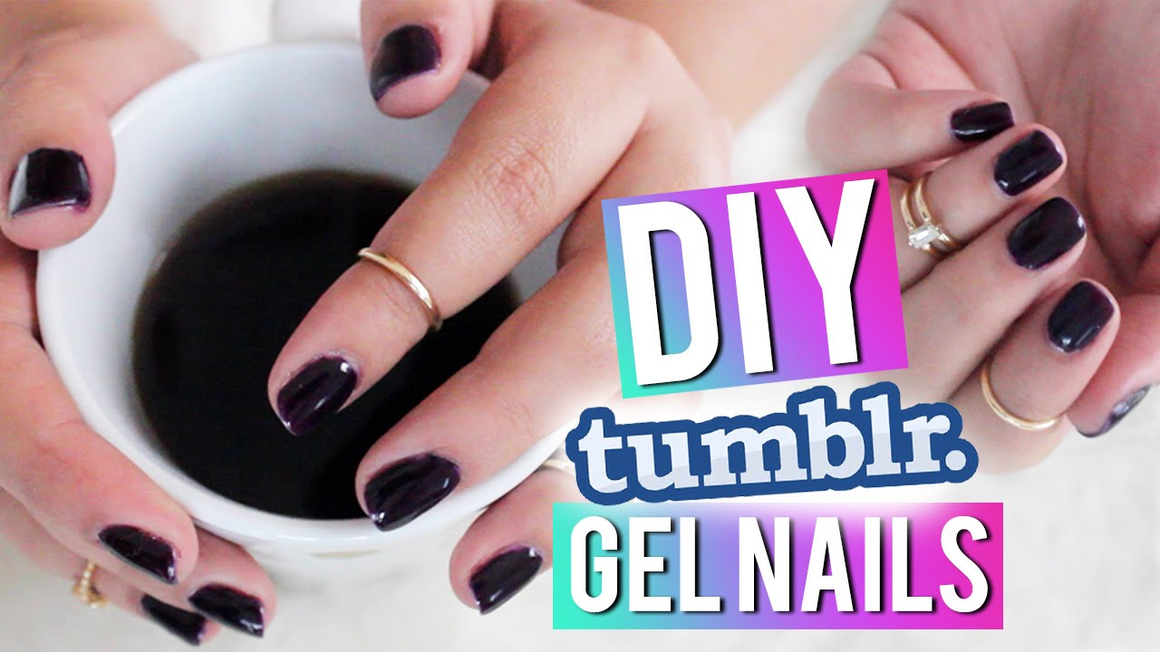 DIY Dark Nails TUMBLR Inspired - YouTube