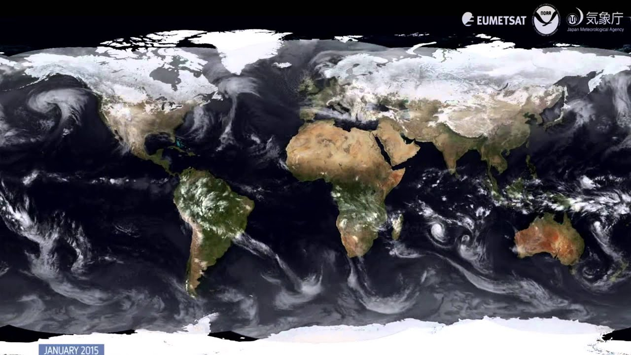 EUMETSAT Winter Storms Global Satellite View From - World satellite map 2014
