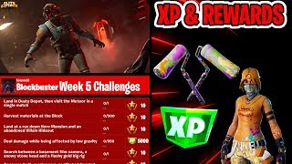 🔴 *NEW* FORTNITE BLOCKBUSTER WEEK 5 CHALLENGES & REWARDS (FORTNITE BATTLE ROYALE LIVE)