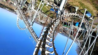 Ultra HD 2160p60 Tornado roller coaster Front row onride POV ◇Offic...