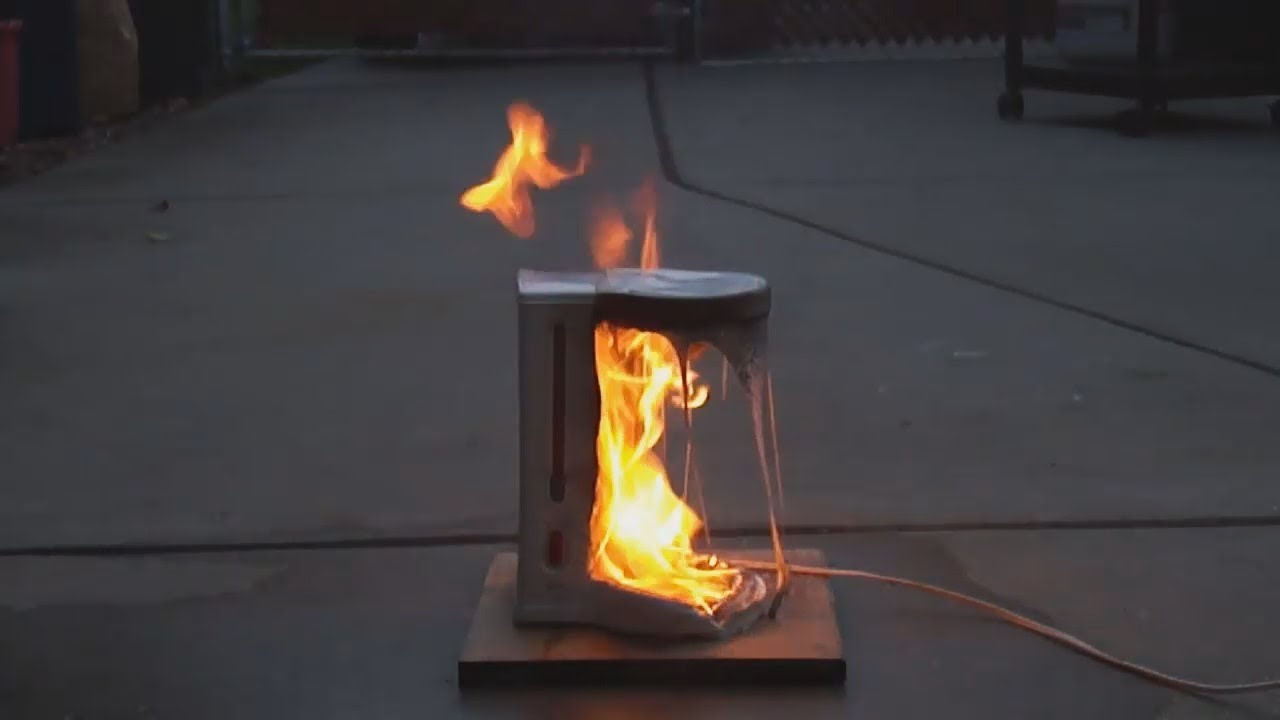 Coffee Maker Up In Flames - YouTube