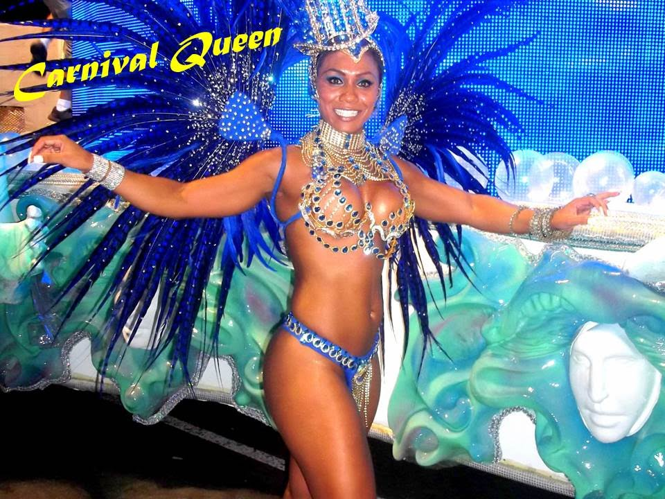 Swimming Pool Stuttgart Bodybuilder Samba Dancer Explain Brazil Carnival Parades