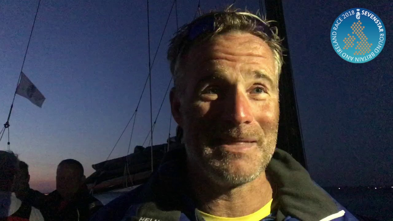 2018 Sevenstar Round Britain and Ireland Race - Pata Negra Finish Interview with Giles Redpath