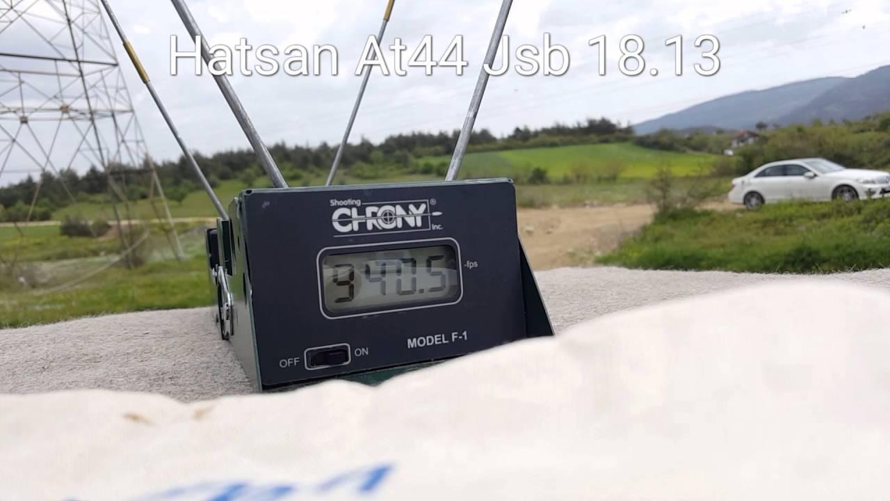 HATSAN AT44-10 5 5 MM CHRONY TEST JSB 18 13 GRAIN by Turkish