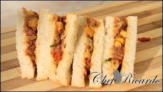 Corn Beef And Cabbage Sandwich (jamaican Sandwich)from Chef Ricardo Cooking