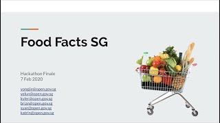 OGP Hackathon 2020 - Food Facts SG