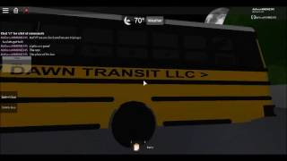 Pretriping the C2 Bus 556 For new Dawn Transit Roblox.