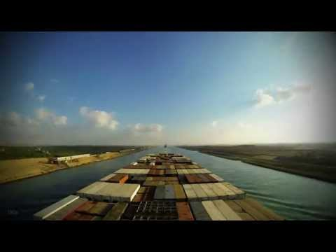 Time-lapse (180x/60x): transiting The New Suez Canal [4K / UHD]