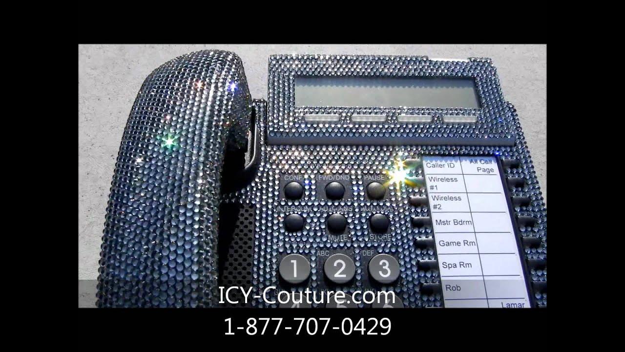 Actual Khloe Lamar Swarovski Crystal Bling Home Office Phone Made For Kardashian You