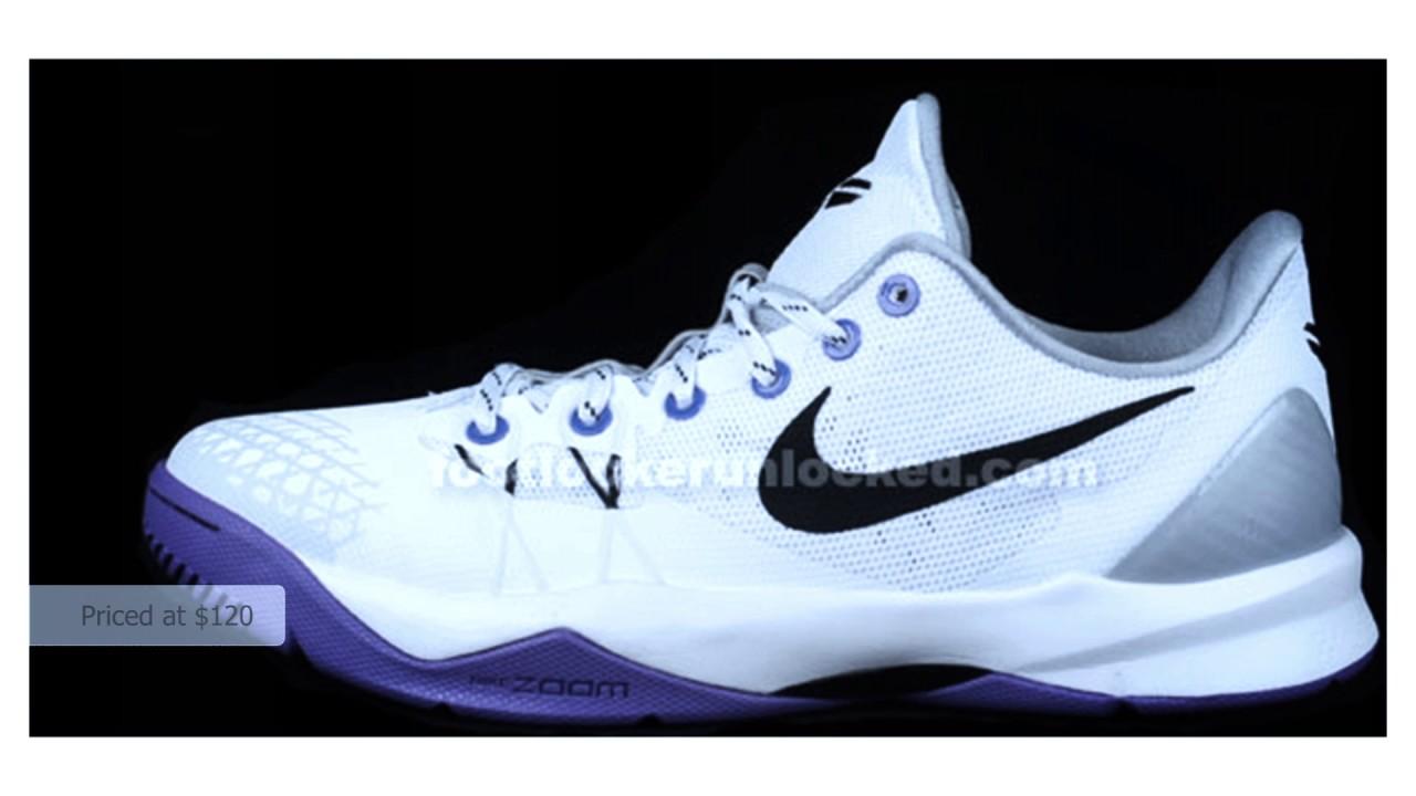 754d80883da0 Nike Zoom Kobe Venomenon 4 White Black-Wolf Grey-Court Purple - YouTube