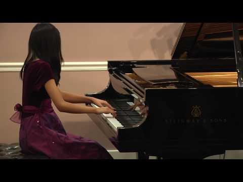 Amber Tang, piano, plays Fantasie Impromptu Opus 6...