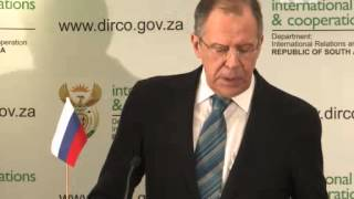 Feb 12, 2013 South Africa_Moscow condemns N. Korea nuclear test -- Lavrov