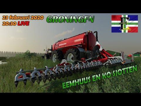 🔴 | LIVE | 🔴 |  Farming Simulator 2019 | GRONINGEN | STRONT TIET | Eemhuus En Ko Sjotten!