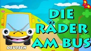 Die Räder am Bus | Wheels of the Bus | German Kids Songs