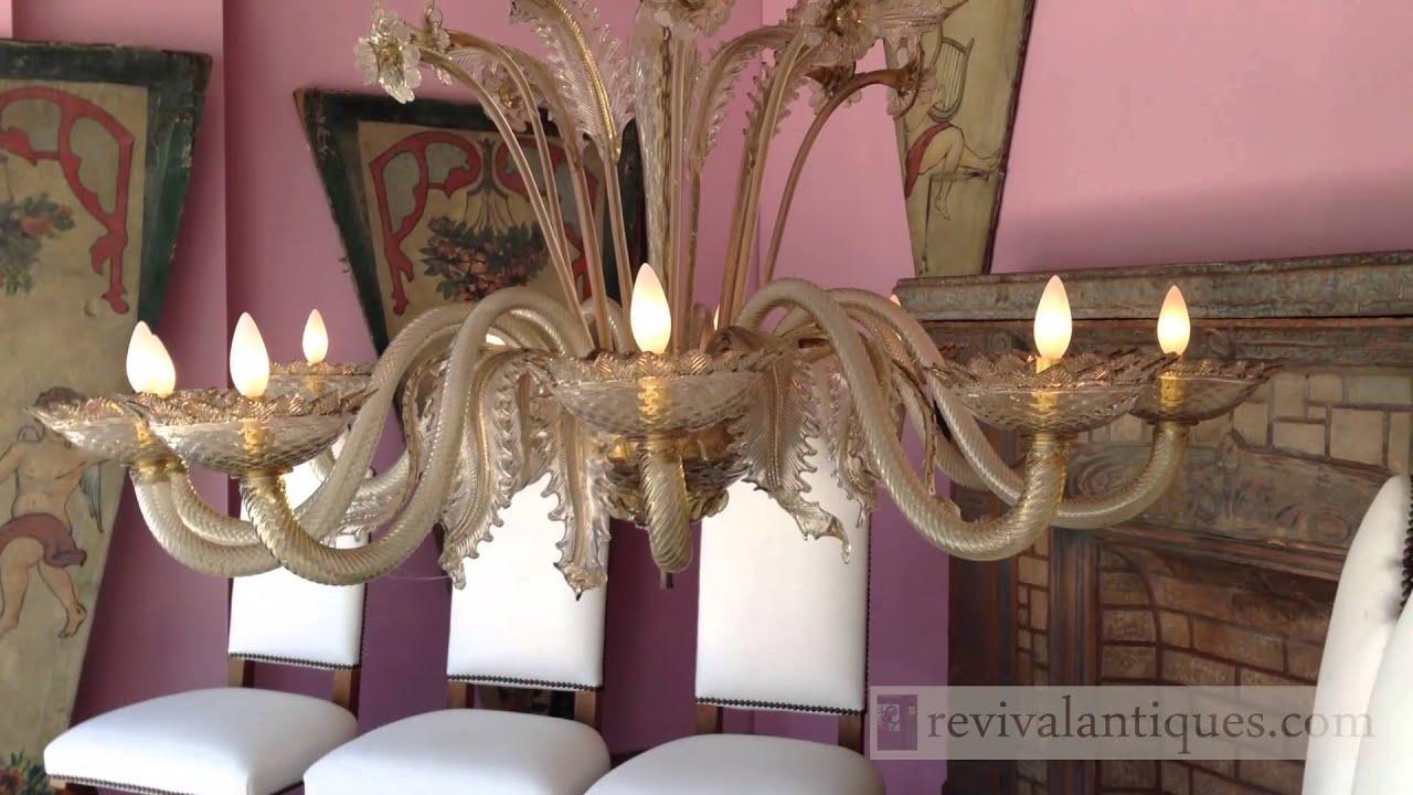 Murano 1920s italian hand made two tier glass grand chandelier youtube murano 1920s italian hand made two tier glass grand chandelier arubaitofo Image collections