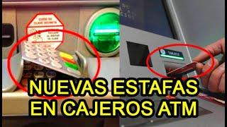 Nueva modalidad de estafas en cajeros automáticos. Cuidado puedes perder tu dinero.