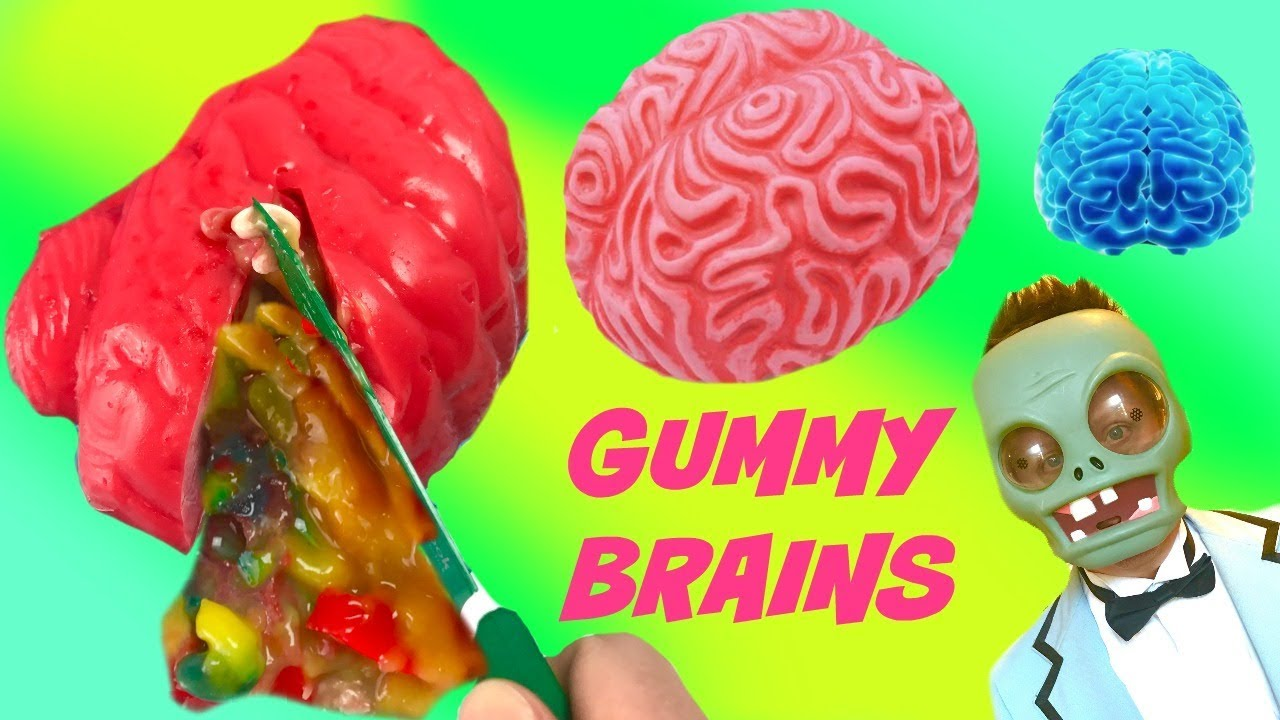 Making DIY Gummy Jello Brains with Carrie Hands