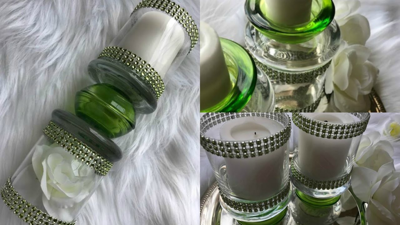 $5 DOLLAR TREE DIY CANDLE HOLDERS | 3 CANDLE HOLDER IDEAS ...