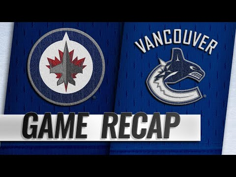 Laine's sixth hat trick powers Jets past Canucks, 6-3