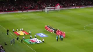 Welsh National Anthem at Wales v Spain Friendly 2018