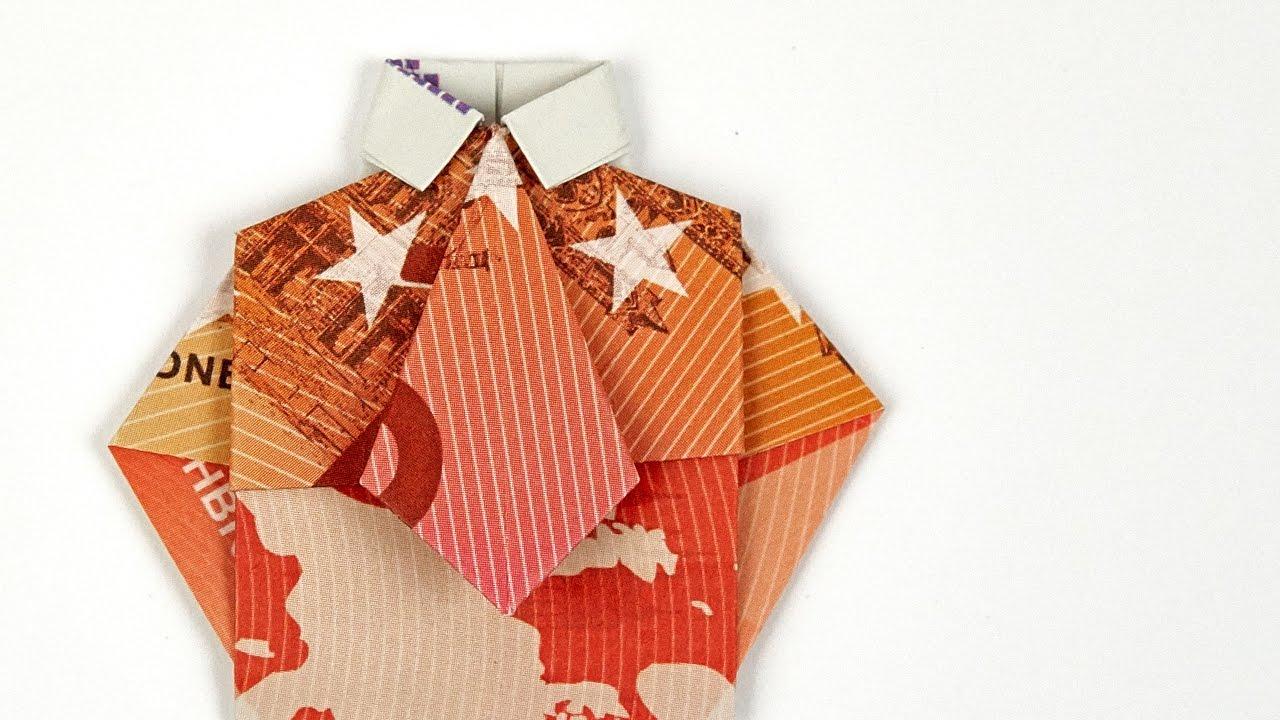 Geldschein Falten Hemd Mit Krawatte Geldgeschenke Hochzeit 4k