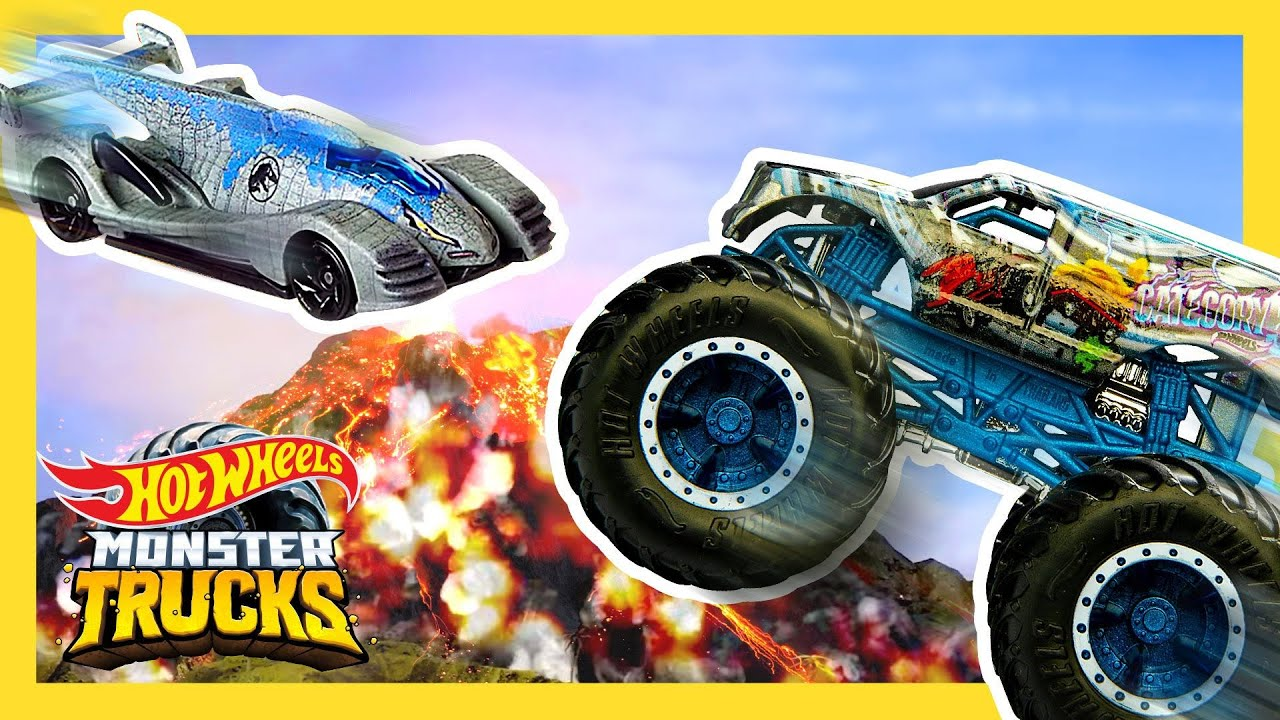 Monster Trucks Compete In Wild Card Jungle Tournament Monster Trucks Hot Wheels Youtube