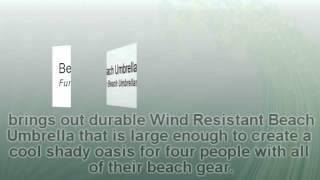 Durable Wind Resistant Beach Umbrella