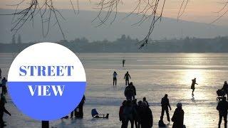 STREET VIEW: Auf dem Eis von Hegne zur Reichenau in GERMANY