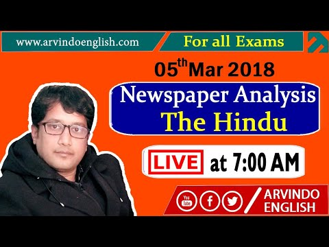 The Hindu ll Daily News and Analysis ll 05 March 2018