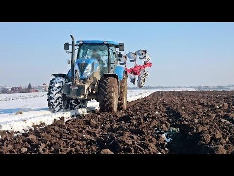 Orka zimą 2017! ☆Testy nowego pługa!☆ 2x New Holland T7.200 ㋡☆Mafia Małopolska☆