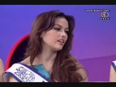 Miss Thailand World 2009 @ Tonight Show #Part 1