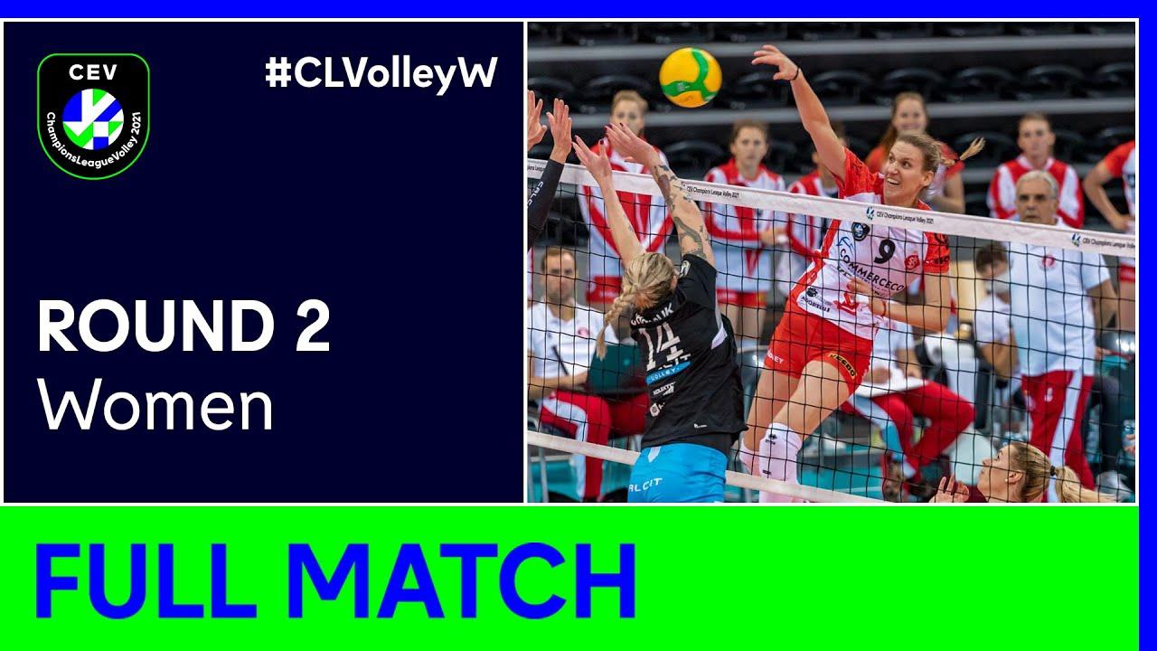 ŁKS Commercecon ŁÓDŹ vs. Calcit Volley KAMNIK - Champions League Volley 2021 Women R2