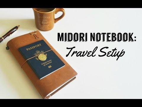 Camel Midori Notebook: Travel Journal Setup