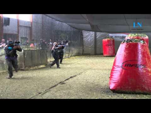 Beim Training der Paintball-Mannschaft Lübeck Knights