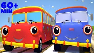 the wheels on the bus go round and round racing version plus many other popular children rhymes