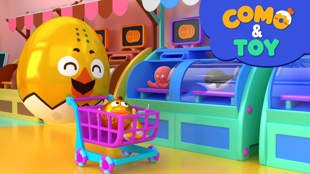 Como | Fresh Mart 3 | Learn colors and words | Cartoon video for kids | Como Kids TV