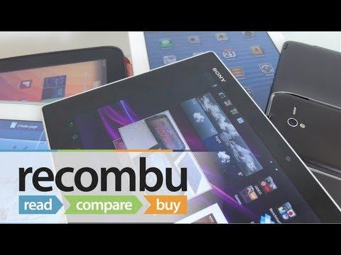 Sony Xperia Tablet Z vs iPad 4 vs Google Nexus 10 vs Asus Padfone 2 vs Samsung Galaxy Note 10.1