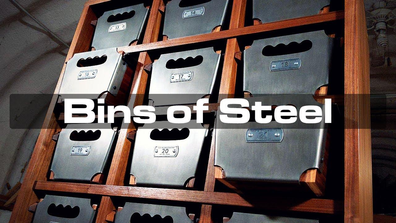 Bins of Steel: Industrial Storage Unit With Laser-Cut Steel