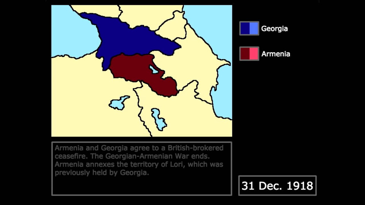 Wars The GeorgianArmenian War Every Day YouTube - Georgia map 1918