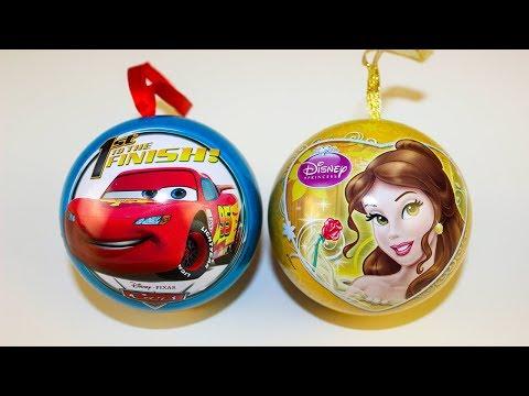 Новогодние подарки машинки СЮРПРИЗЫ Игрушки Мультики Тачки и Принцессы Диснея Видео для детей