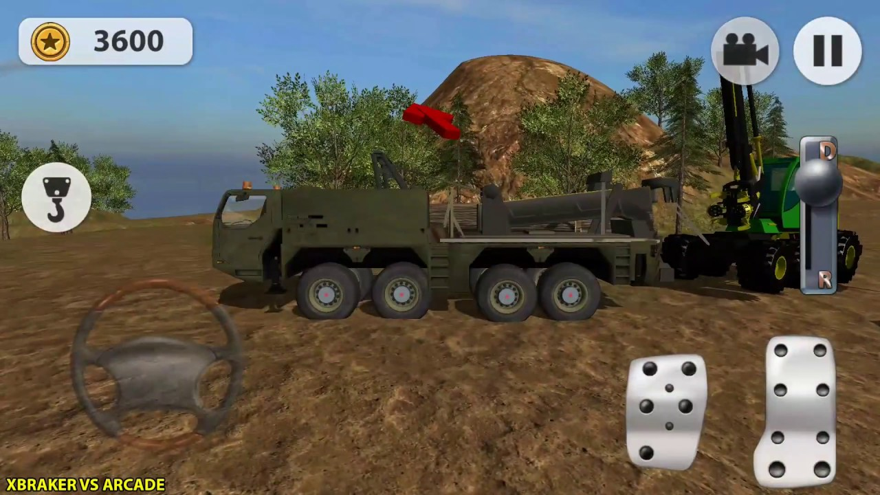 Sawmill driver simulator 3d job in the forest android gameplay.