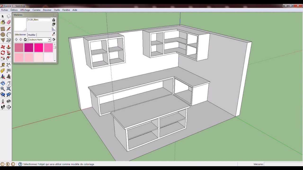 Sketchup cuisine kitchen youtube for Mobilier cuisine