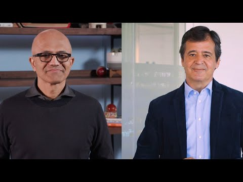 Luis Maroto and Satya Nadella talk Amadeus-Microsoft strategic partnership