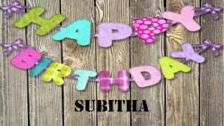 Subitha   wishes Mensajes