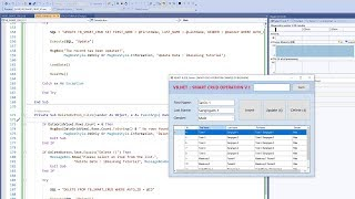 VB.NET and SQL Server Perform SMART CRUD Operations with SEARCH (Edited Version Part 2/2)