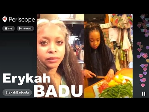 Erykah BADU - Growing Vegetables @ Home | Periscope LIVE | Dec 21, 2015