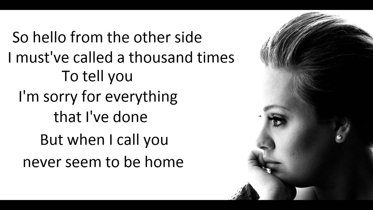 Adele Hello Lyrics Best Cover