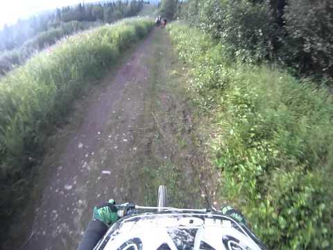 go pro Downhill mountain biking- alaska -flattop