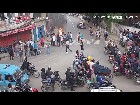 Student Gang war live video   viral @ Trichandra collage, kathmandu